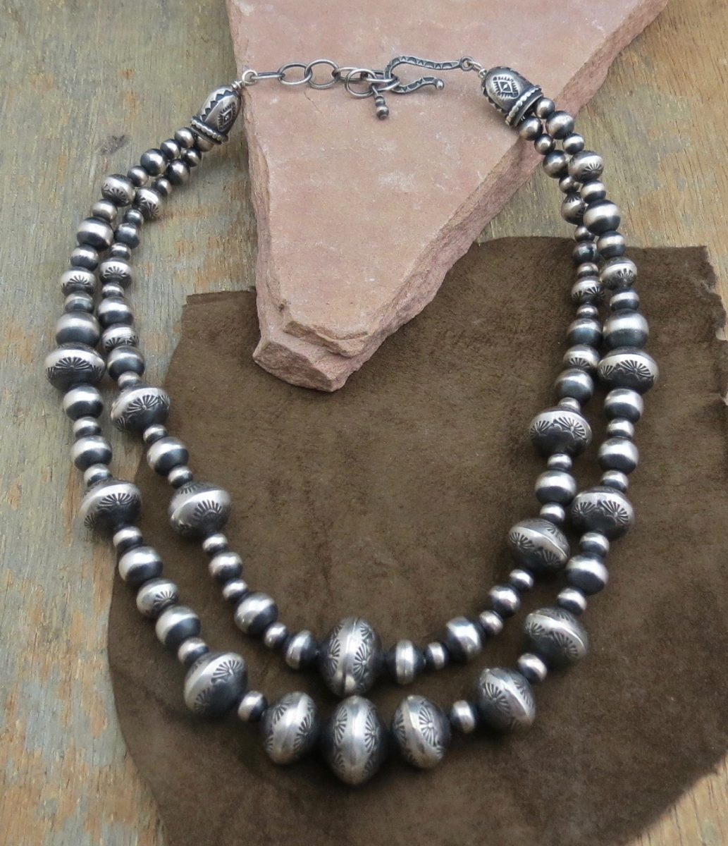 necklace bead dune silver sandbead jewelry