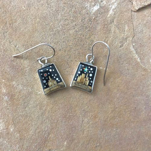 Fred Begay pueblo dangle earrings