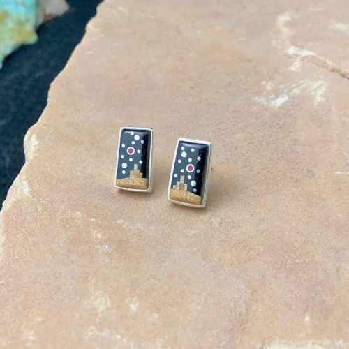 Fred Begay Adobe post earrings