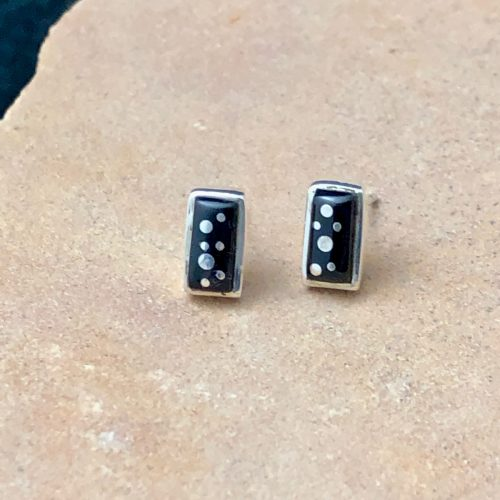 Fred Begay Night Sky post earrings