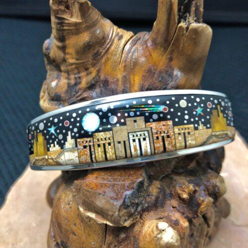 Fred Begay Adobe Pueblo cuff bracelet