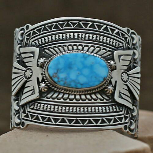 wide cuff bracelet kingman turquoise