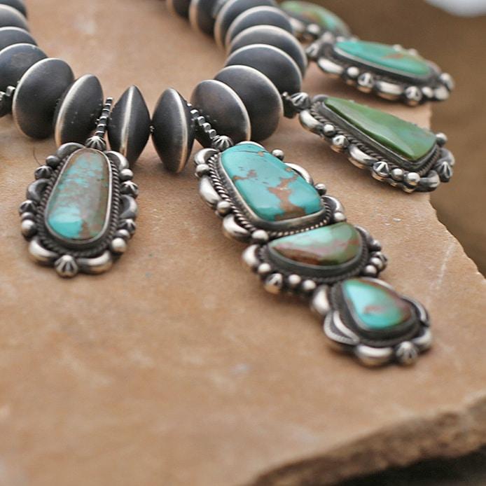 royston turquoise necklace set
